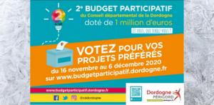 Présentation de notre projet à la seconde édition du «Budget participatif de Dordogne»